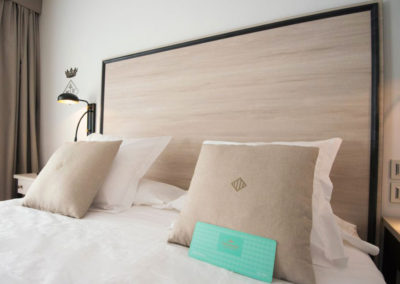 Headboard and bedside tables